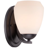 Nuvo Bali 1 Light Vanity Light in Textured Black 60/5461