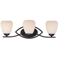 Bali 3 Light 24 inch Textured Black Vanity Light Wall Light
