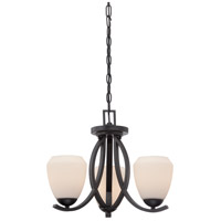 Nuvo Bali 2 Light Semi-Flush Mount in Textured Black 60/5464