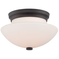 Bali 2 Light 13 inch Textured Black Flush Mount Ceiling Light