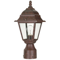 Briton 1 Light 14 inch Old Bronze Outdoor Post Lantern