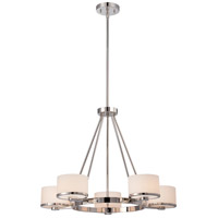 Nuvo 60/5475 Celine 5 Light 27 inch Polished Nickel Chandelier Ceiling Light