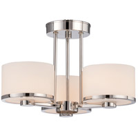 Nuvo 60/5477 Celine 3 Light 15 inch Polished Nickel Semi Flush Mount Ceiling Light