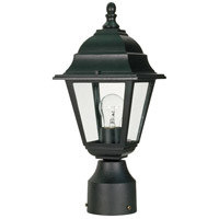 Briton 1 Light 14 inch Textured Black Outdoor Post Lantern