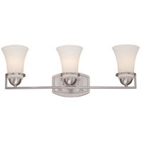 Nevel 3 Light 25 inch Brushed Nickel Vanity Light Wall Light