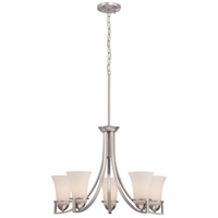 Nuvo Nevel 5 Light Chandelier in Brushed Nickel 60/5485