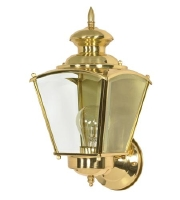 Nuvo Revere 1 Light Outdoor Wall Light in Polished Brass 60/549