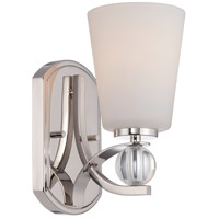Connie 1 Light 5 inch Polished Nickel Vanity Light Wall Light