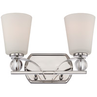Connie 2 Light 14 inch Polished Nickel Vanity Light Wall Light