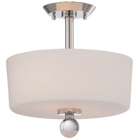 Connie 2 Light 13 inch Polished Nickel Semi-Flush Mount Ceiling Light