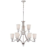 Connie 9 Light 30 inch Polished Nickel Chandelier Ceiling Light