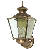 Nuvo Revere 1 Light Outdoor Wall Light in Antique Brass 60/550