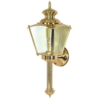 Nuvo Revere 1 Light Outdoor Wall Light in Polished Brass 60/551