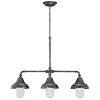 Sutton 3 Light 32 inch Industrial Iron Pendant Ceiling Light