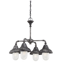 Sutton 4 Light 26 inch Industrial Iron Chandelier Ceiling Light