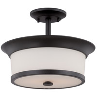 Nuvo Mobili 2 Light Semi-Flush Mount in Aged Bronze 60/5550