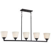 Nuvo Mobili 5 Light Pendant in Aged Bronze 60/5555