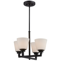 Nuvo Mobili 4 Light Chandelier in Aged Bronze 60/5558