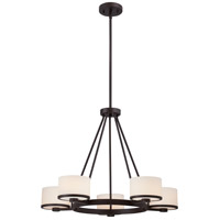 Nuvo 60/5575 Celine 5 Light 27 inch Venetian Bronze Chandelier Ceiling Light