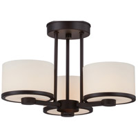 Celine 3 Light 15 inch Venetian Bronze Semi-Flush Mount Ceiling Light