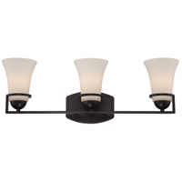 Nevel 3 Light 25 inch Sudbury Bronze Vanity Light Wall Light