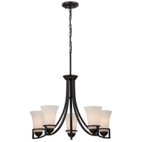 Nuvo Nevel 5 Light Chandelier in Sudbury Bronze 60/5585