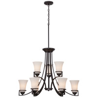 Nuvo 60/5589 Nevel 9 Light 30 inch Sudbury Bronze Chandelier Ceiling Light
