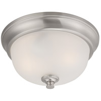 Nuvo 60/5590 Elizabeth 2 Light 11 inch Brushed Nickel Flush Mount Ceiling Light