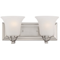 Nuvo 60/5592 Elizabeth 2 Light 14 inch Brushed Nickel Vanity Light Wall Light
