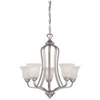 Nuvo 60/5595 Elizabeth 5 Light 25 inch Brushed Nickel Chandelier Ceiling Light