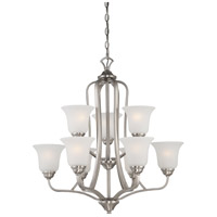 Nuvo 60/5599 Elizabeth 9 Light 27 inch Brushed Nickel Chandelier Ceiling Light