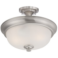 Nuvo 60/5600 Elizabeth 2 Light 18 inch Brushed Nickel Semi-Flush Mount Ceiling Light