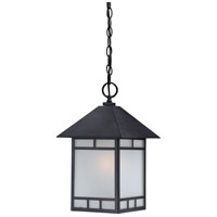 Drexel 1 Light 10 inch Stone Black Outdoor Hanging Lantern