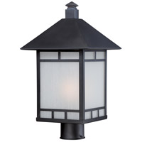 Drexel 1 Light 18 inch Stone Black Post Light