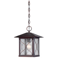Vega 1 Light 9 inch Classic Bronze Outdoor Hanging Lantern