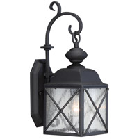 Nuvo Wingate 1 Light Outdoor Wall Light in Textured Black 60/5621