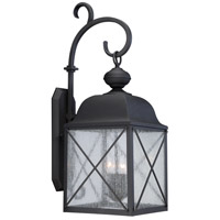 Nuvo Wingate 1 Light Outdoor Wall Light in Textured Black 60/5623