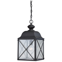 Wingate 1 Light 10 inch Textured Black Outdoor Hanging Lantern