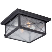 Nuvo Wingate 2 Light Outdoor Flush Mount in Textured Black 60/5626