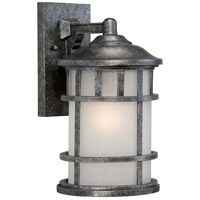 Manor 1 Light 15 inch Aged Silver Outdoor Wall Light