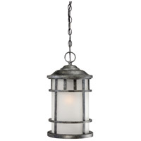 Manor 1 Light 10 inch Aged Silver Outdoor Hanging Lantern