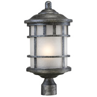 Manor 1 Light 19 inch Aged Silver Post Light