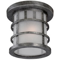 Manor 1 Light 11 inch Aged Silver Outdoor Flush Mount