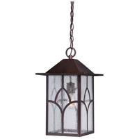 Nuvo Stanton 1 Light Outdoor Hanging Lantern in Claret Bronze 60/5644