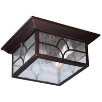 Nuvo Stanton 2 Light Outdoor Flush Mount in Claret Bronze 60/5646
