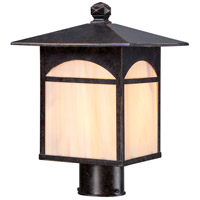 Canyon 1 Light 13 inch Umber Bronze Post Light
