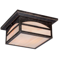 Canyon 2 Light 11 inch Umber Bronze Outdoor Flush Mount