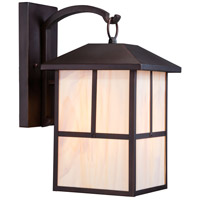 Nuvo Tanner 1 Light Outdoor Wall Light in Claret Bronze 60/5673