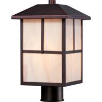 Nuvo Tanner 1 Light Post Light in Claret Bronze 60/5675