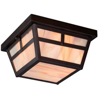 Nuvo Tanner 2 Light Outdoor Flush Mount in Claret Bronze 60/5676
